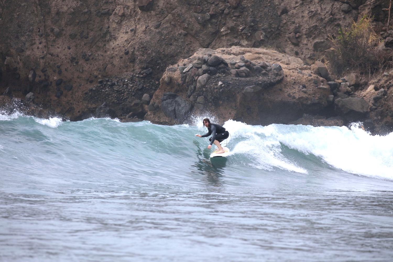 Campeur jour 4, dans une vague verte.